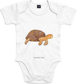Mr. & Mrs. Panda Mr. & Mrs. Panda Babysuit, Strampler, 3-6 Monate Baby Body Schildkröte marschiert - Farbe Transparent