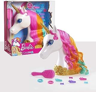JP Barbie- Barbie Dreamtopia Unicorn Styling Head Cabeza de Unicornio, Multicolor, 13.3 x 27.3 x 30.5 cm (Flair Leisure Products 62861)