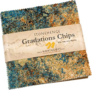 Linda Ludovico Stonehenge Gradations Mixers Earth Chips 42 5-inch Squares Charm Pack Northcott