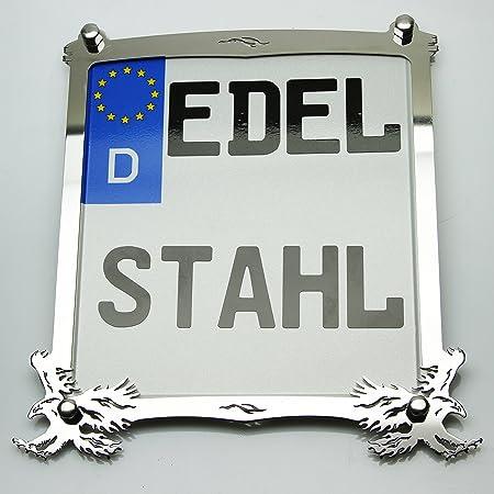 Exklusive Motorrad Kennzeichenhalter Edelstahl Hochglanz Poliert Germany Custom Auto