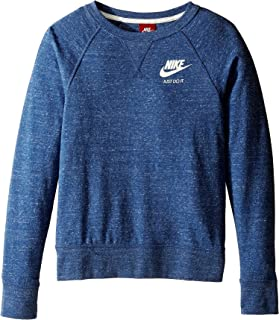 Girls Youth Gym Vintage Crew Shirt Top Sweatshirt Long Sleeve Blue Size Small S