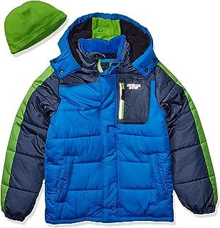 London Fog Boys' Big Color Blocked Puffer Jacket Coat with