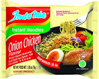 Indomie Instant Noodle Soup Onion Chicken (Ayam Bawang) Flavor 2.65 oz (30 packs)