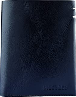 Finelaer Leather Bifold Wallet For Men With Coin Pocket ID Card Slot RFID Black