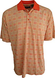 Bobby Chan Men's Silk & Cotton Blend Luxury Polo Golf Shirt Plaid