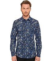 Just Cavalli - Kaleido Tigers Print Woven Shirt
