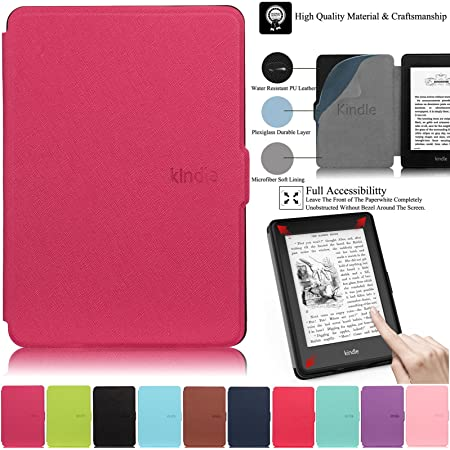 HAOCOO Ultra Slim Leather Smart Case Cover Build in Magnetic Not fit All-New Paperwhite 10th Generation Aqua Function for All-New Kindle Paperwhite Generations Prior to 2018 Auto Sleep//Wake