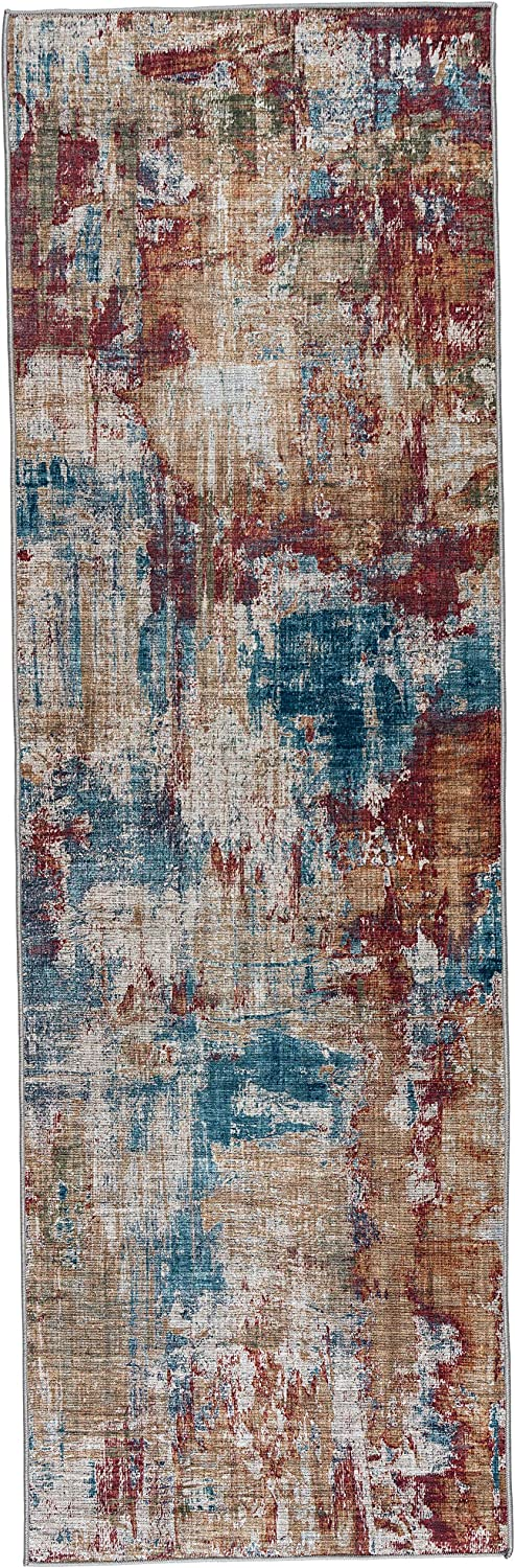 ReaLife Rugs Machine Washable Rug Limited time sale Stain Resistant Max 47% OFF Non-Shed -
