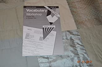 Vocabulary Workshop: Level G, Answer Key to Student Text, Enhanced Edition