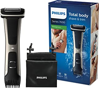 comprar comparacion Philips Serie 7000 BG7025/15 - Afeitadora corporal con cabezal de recorte y de afeitado, 80 minutos de uso, apta para la d...