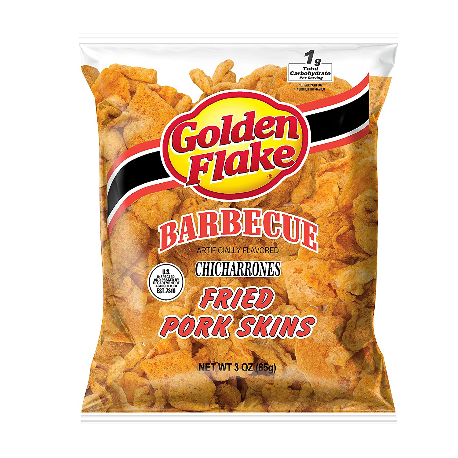 Golden Flake Pork Rinds Barbecue 55% OFF 3 Friendly Low Keto with Our shop most popular Snack