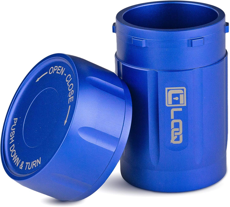 Canniloq-Smell Proof Stash Jar Airtight Aluminum Daily bargain sale 80 Premium 5 popular Blue