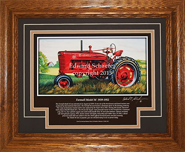 American Memory Prints Art By Ed Schaefer Farmall Model M 1939 1952 With The History Of The Tractor Gift For Dad Farmall Pictures Wall Decor Art