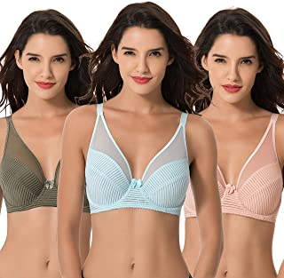 2a959e427b633 Curve Muse Women s Plus Size Minimizer Unlined Underwire Full Coverage Bra