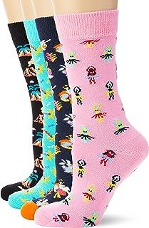 para Mujer Pack de 3 Talla del fabricante: 36-40 Multicolor 4//7 Happy Socks 3-pack Cats /& Dogs Liner Sock Calcetines Multicolour 100