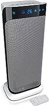 Brandson - Heizlüfter mit Fernbedienung - Keramik Heizlüfter Badezimmer energiesparend leise - Schnellheizer mit Oszillationsfunktion - 2 x Heizstufen - Timer - Heizung Heater - GS zertifiziert