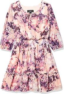 فستان ريفي Amy Byer بتنورة مكشكشة وخصر مكشكش