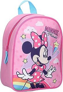 Minnie Mouse - Mochila infantil, diseño de estrellas y arco iris, color rosa