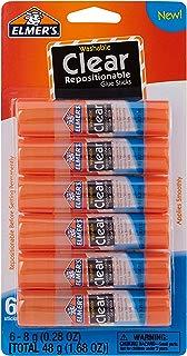 Elmer's Clear Glue Stick (E4061), 6 count