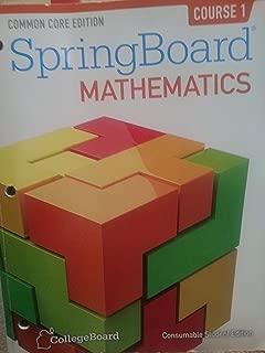 Common Core Springboard Mathematics- Consumable Student Edition (2014-05-04)