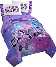 Jay Franco Galaxy in Bloom Reversible Full/Queen Comforter, Star Wars