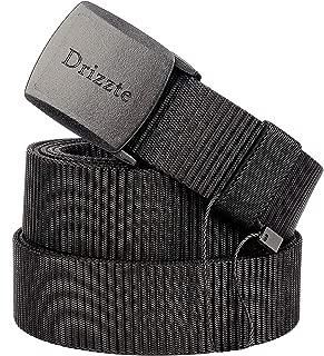 Plus Size 51-79'' Men's Black Nylon Military Tactical Plastic Buckle Belt