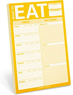 Knock Knock What to Eat Pad Meal Planning Pad, 6 x 9-inches (Yellow)