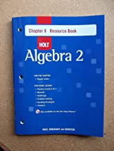 Holt Algebra 2: Resource Book with Answers: Chapter 8