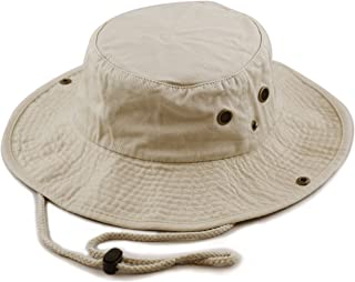 a9dd3e6feea THE HAT DEPOT 100% Cotton Stone-Washed Safari Wide Brim Foldable  Double-Sided