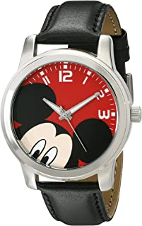 Unisex W001842 Mickey Mouse Analog Display Analog Quartz Black Watch