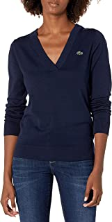 Women's Sport V-Neck Cotton Technical Golf Sweater