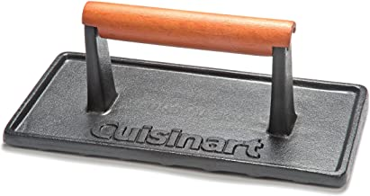 Cuisinart CGPR-221, Cast Iron Grill Press (Wood Handle)