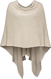 Cashmere Dreams Cashmere Dreams Poncho-Schal aus Baumwolle - Hochwertiges Cape für Damen - Umhängetuch und Tunika - Strick-Pullover - Sweatshirt - Stola für Sommer und Winter Zwillingsherz