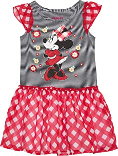 Minnie Mouse Toddler Girl Flutter Sleeve Chiffon Skirt Dress b8da974a7