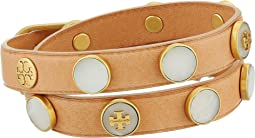 Tory Burch - Semi-Precious Double-Wrap Bracelet