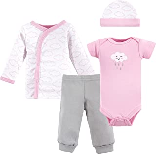 Luvable Friends Unisex Baby Preemie Layette Set, 4-Piece
