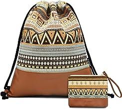Leapop - Bolsa de deporte, diseño geométrico, con bolsillo interior y llavero, monedero