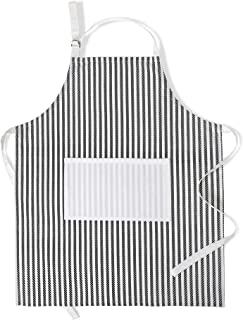 Folkulture Kitchen Apron for Women or Chef, 100% Cotton Aprons for Men with an Adjustable Neck Strap and Center Pockets fo...