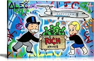 ALEC Monopoly HD Printed Oil Paintings Home Wall Decor Art On Canvas Rich Air Ways 24x36inch Unframed