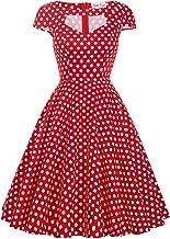 Women's 1950s Retro Vintage Short Sleeve Cocktail Dresses Hollowed Front Dress