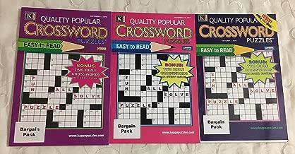 Lot of 3 Quality Popular Bonus Bible Crosswords Crossword Puzzles Books 2018