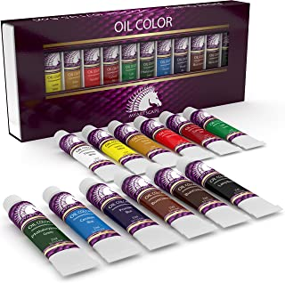 Oil Paint Set - 21ml x 12 - Oil-Based Paints in Tubes - Artists Quality Art Colors - Professional Painting Supplies - MyAr...