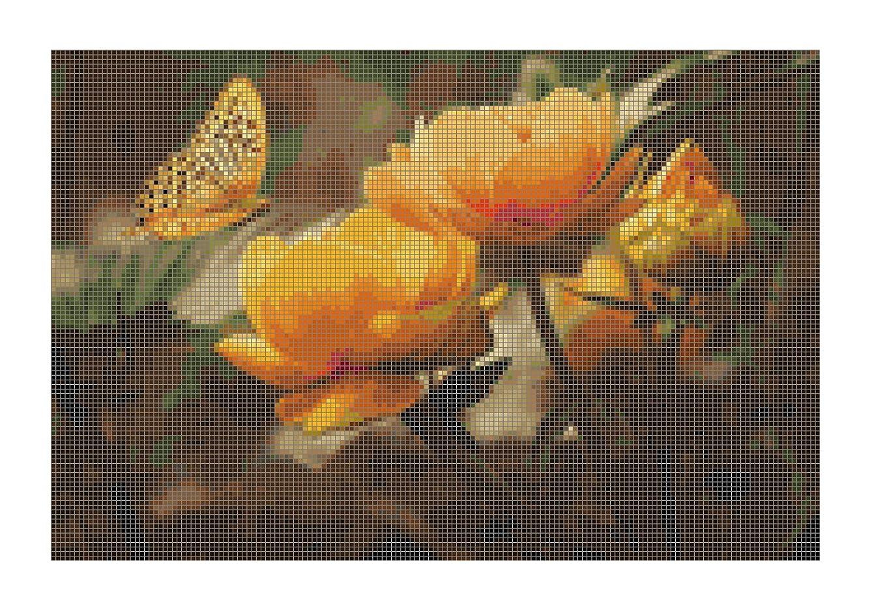 Gwen Street Designs Cross Stitch Patterns Busy Butterfly Printed Graph New X-Stitch