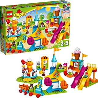 LEGO DUPLO Town Big Fair 10840 Role Play and Learning Building Blocks Set for Toddlers Including a Ferris Wheel, Carousel,...
