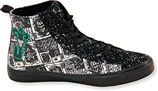 DC Comics The Joker High Top Sneakers Black/White