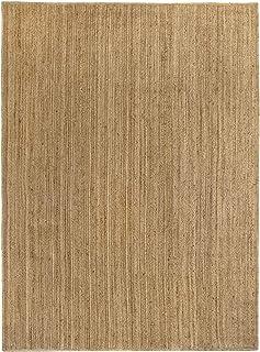 HAMID Alfombra Yute Alhambra Color Natural - Alfombra 100% Fibra de Yute (300x500cm)