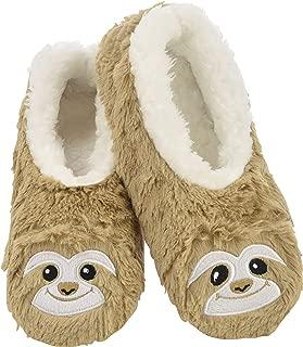 fluffy sloth slippers