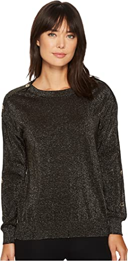MICHAEL Michael Kors - Lurex Button Sweater