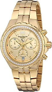 Technomarine Women's Eva Longoria Swiss-Quartz Watch with Stainless-Steel Strap, Gold, 22 (Model: TM-416031)