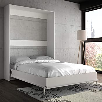 Stellar Home Wall Bed Full in Wood White